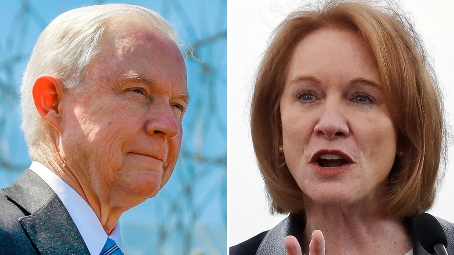 U.S. Attorney General Jeff Sessions and Seattle Mayor Jenny Durkan.