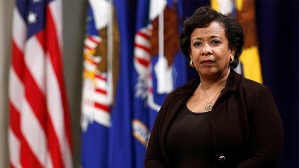 United States Attorney General Loretta Lynch waits to deliver her remarks at Veterans Appreciation Day at the Justice Department in Washington, U.S., November 2, 2016.    REUTERS/Gary Cameron - D1BEUKNVUQAA