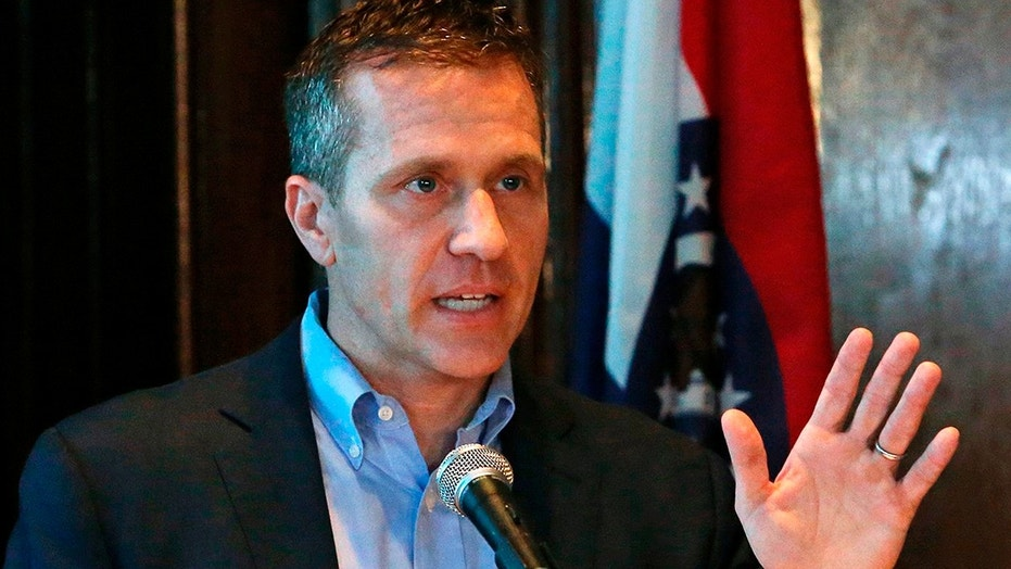 Missouri Gov. Eric Greitens is pictured at a news conference on April 11, 2018.