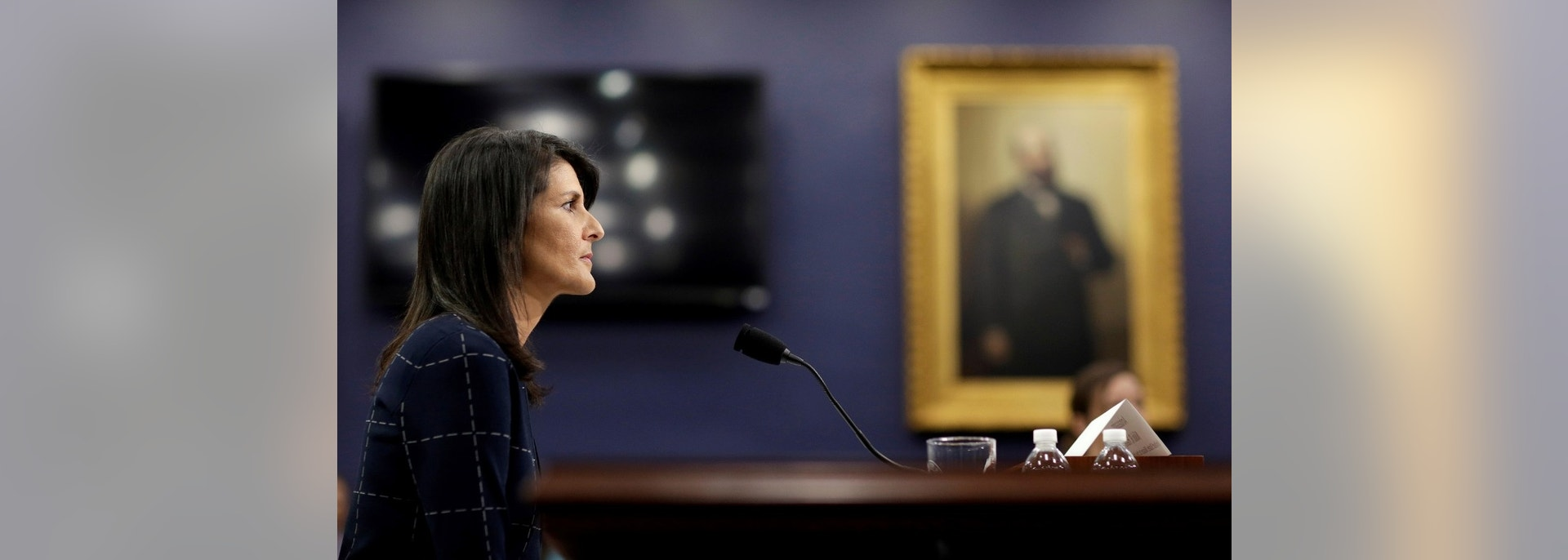 U.S. Ambassador to the United Nations Nikki Haley waits to testify to the House Appropriations State, Foreign Operations and Related Programs Subcommittee on the budget for the U.N. in Washington, D.C., U.S., June 27, 2017. REUTERS/Joshua Roberts - RC19F6EE2820