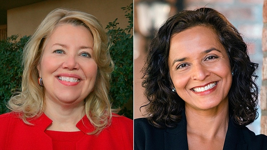Republican Debbie Lesko (left) beat Democrat Hiral Tipirneni in the battle for Arizona's 8th congressional district in an April special election.