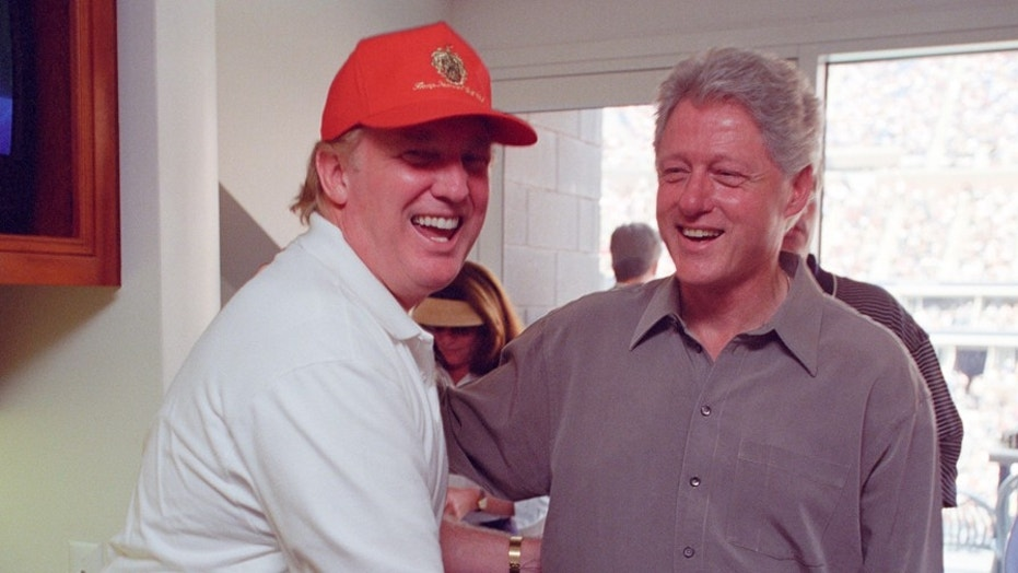 President Trump and former President Bill Clinton in 2000 at the U.S. Open in Flushing, New York.