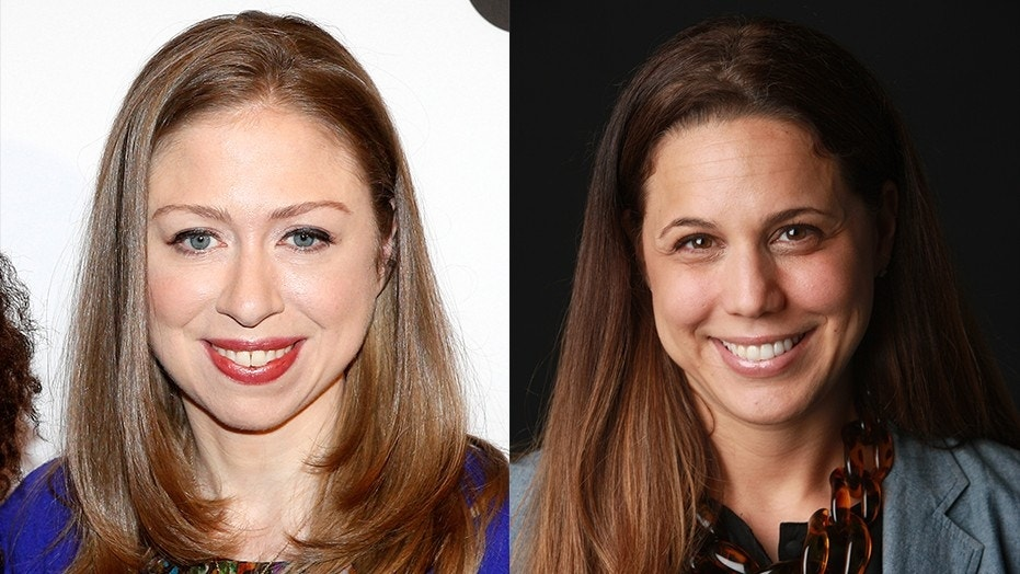 """Chelsea Clinton (left) claimed that portions about her in Amy Chozick's (right) new book were incorrect and not """"fact checked."""""""