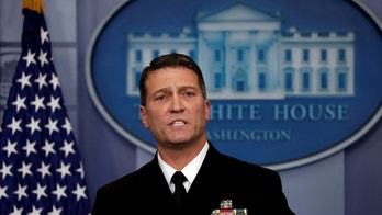 FILE PHOTO: White House, Presidential physician Ronny Jackson answers question about U.S. President Donald Trump's health after the president's annual physical during the daily briefing at the White House in Washington, DC, U.S., January 16, 2018. REUTERS/Carlos Barria/File Photo - RC1243802E70