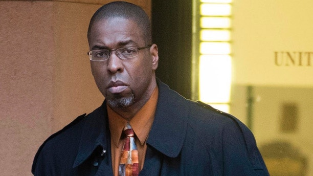 FILE - In this Jan. 26, 2015 file photo, former CIA officer Jeffrey Sterling leaves federal court in Alexandria, Va. A three-judge panel of the 4th U.S. Circuit Court of Appeals will hear Sterling's case on Tuesday, Dec. 6, 2016. A jury convicted Sterling on all counts last year after he was charged under the Espionage Act for leaking details of a CIA mission to New York Times journalist James Risen. (AP Photo/Kevin Wolf, File)