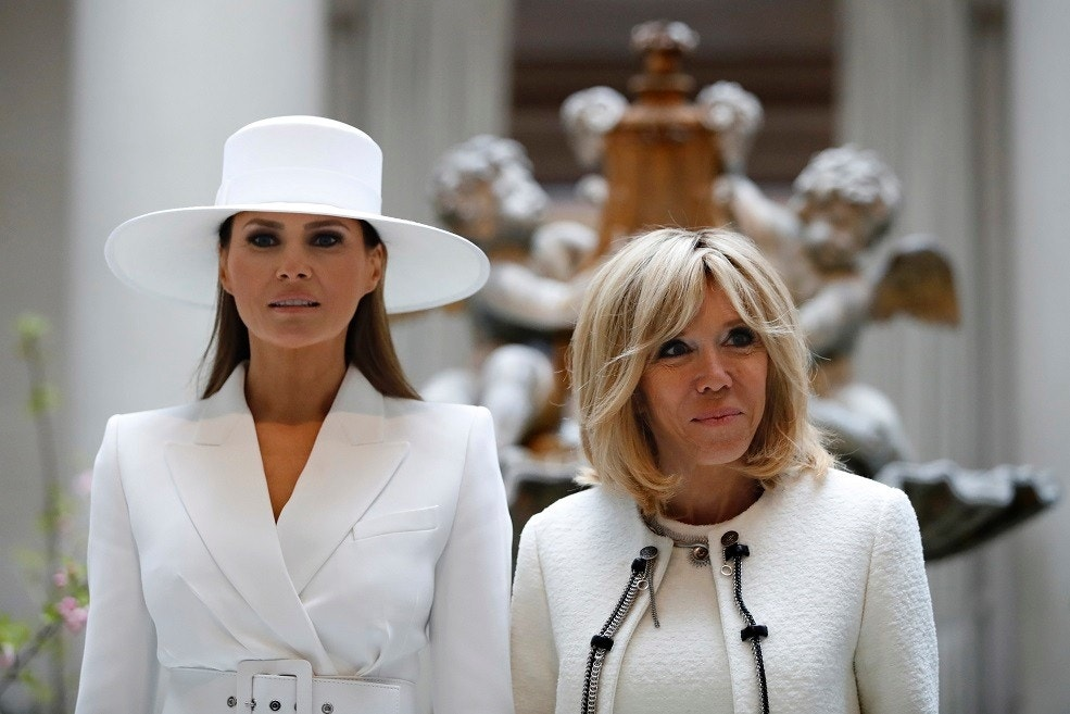Brigitte Macron says first lady Melania Trump 'cannot do anything'