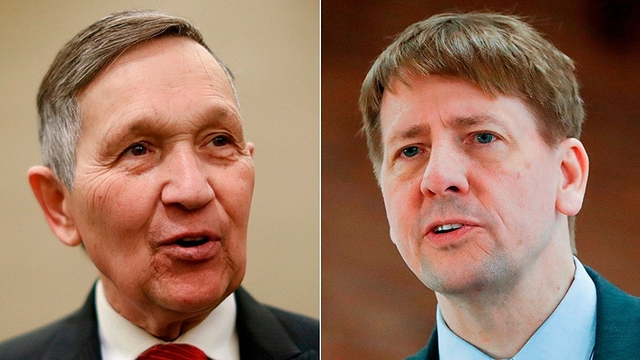 Dennis Kucinich, left, and Richard Cordray are facing off next week for the Ohio Democratic gubernatorial primary.