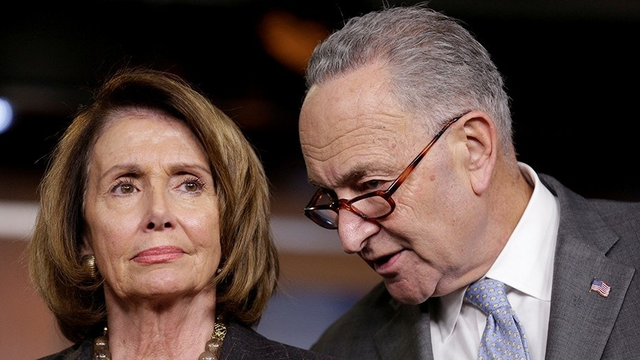 House Minority Leader Nancy Pelosi (D-CA) and Senate Minority Chuck Schumer (D-NY) speak during a briefing in reaction to Republican legislation to overhaul the tax code on Capitol Hill in Washington, U.S., November 2, 2017.