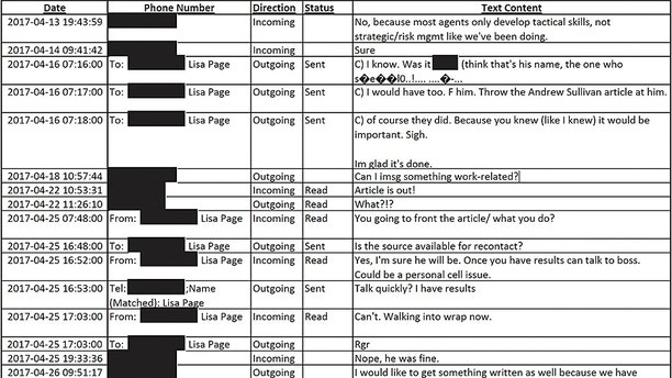 Strzok-Page Texts Show Efforts To Communicate On Personal