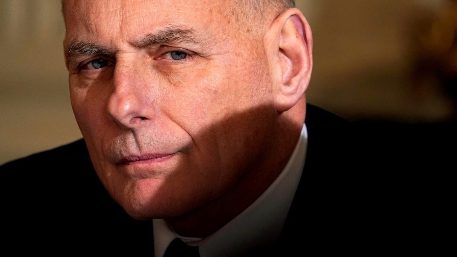 White House Chief of Staff John Kelly attends U.S. President Donald Trump's infrastructure meeting at the White House in Washington, U.S., February 12, 2018. REUTERS/Kevin Lamarque - RC18826D98B0