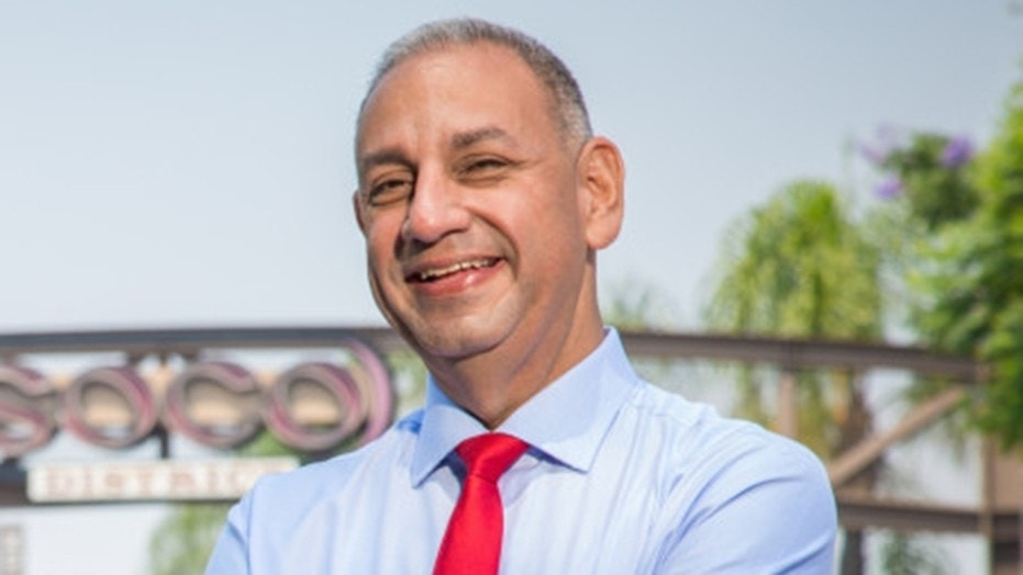 Gil Cisneros, a Navy veteran and Democratic candidate running for a House seat in Orange County, Calif.