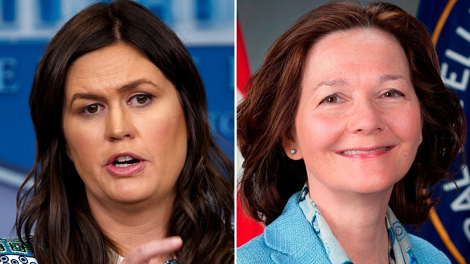 """White House Press Secretary Sarah Huckabee Sanders tweeted Saturday that any Democrat who does not support CIA director nominee Gina Reel is a """"hypocrite."""""""