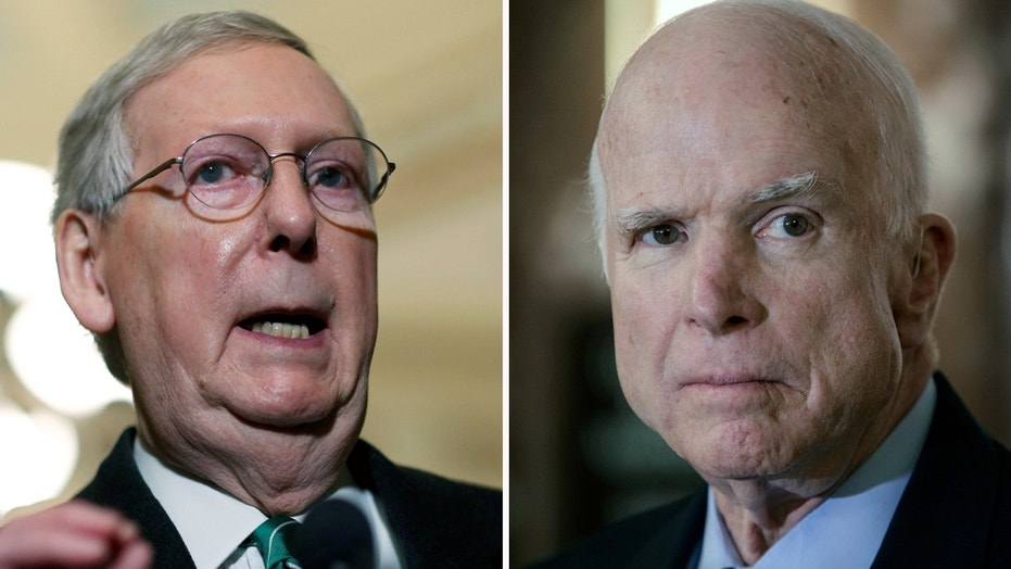 Senate Majority Leader Mitch McConnell, left, said he visited Sen. John McCain in Arizona over the weekend.