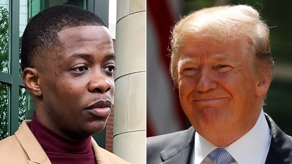 """President Trump on Monday spoke with James Shaw, Jr., the """"hero"""" who wrestled an AR-15 rifle out of the hands of a gunman at a Waffle House in Antioch, Tennessee, last month."""