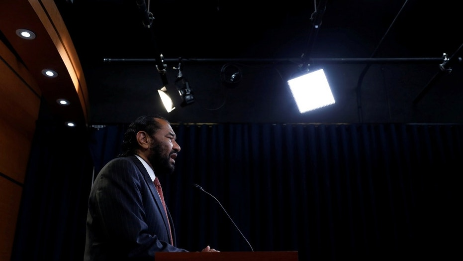 """Rep. Al Green, D-Texas, again presented articles of impeachment against President Trump, calling him """"unfit"""" for his office."""