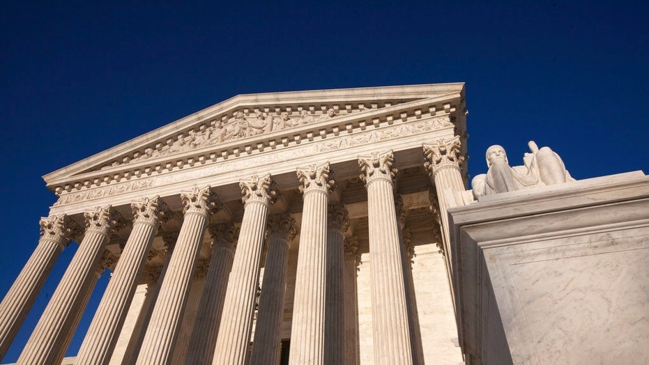 The Supreme Court Building is seen in Washington.