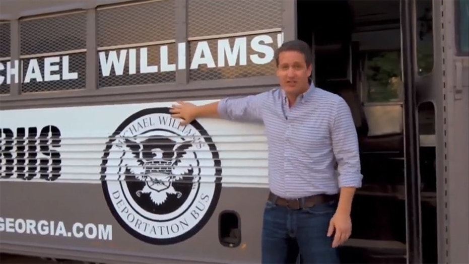 State Sen. Michael Williams had his 'deportation bus tour' video yanked from YouTube Wednesday.