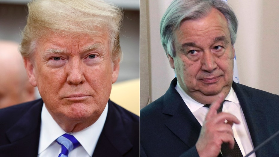 President Trump will meet with United Nations Secretary General Antonio Guterres later this week.