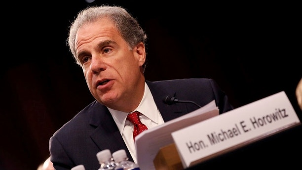 Justice Department Inspector General Michael Horowitz testifies during a Judiciary Committee hearing into alleged Russian meddling in the 2016 election on Capitol Hill in Washington, U.S., July 26, 2017. REUTERS/Aaron P. Bernstein - RC15A41CCB80