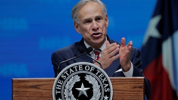 Texas Governor Greg Abbott speaks at the annual National Rifle Association (NRA) convention in Dallas, Texas, U.S., May 4, 2018. REUTERS/Lucas Jackson - RC196902B580
