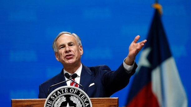 In this May 4, 2018, photo, Gov. Greg Abbott speaks at the National Rifle Association-Institute for Legislative Action Leadership Forum in Dallas. Texas' primary runoff will test whether the national Democratic Party's establishment can overcome an insurgent wing more openly hostile to President Donald Trump. The only statewide runoff features little-known Democratic gubernatorial candidates: Ex-Dallas County sheriff Lupe Valdez against Houston businessman Andrew White, whose father, Mark, was governor from 1983 to 1987. Neither is expected to seriously challenge well-funded Abbott. Texas hasn't elected a Democratic governor since 1990. (AP Photo/Sue Ogrocki)