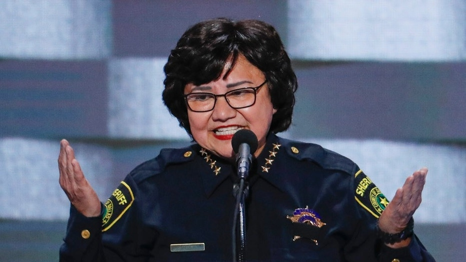 In this July 28, 2016, file photo, Dallas Sheriff Lupe Valdez speaks during the final day of the Democratic National Convention in Philadelphia. Texas' primary runoff will test whether the national Democratic Party's establishment can overcome an insurgent wing more openly hostile to President Donald Trump.