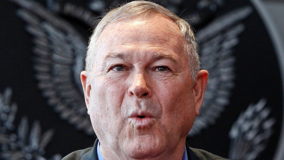 U.S. Rep. Dana Rohrabacher speaks at a news conference in Moscow, June 2, 2013.