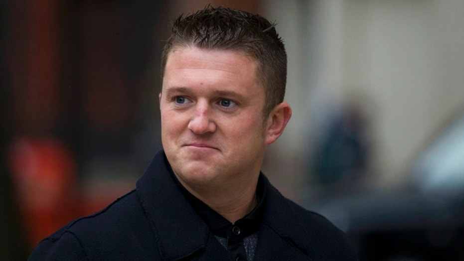Tommy Robinson, pictured here in 2013, was jailed Friday.