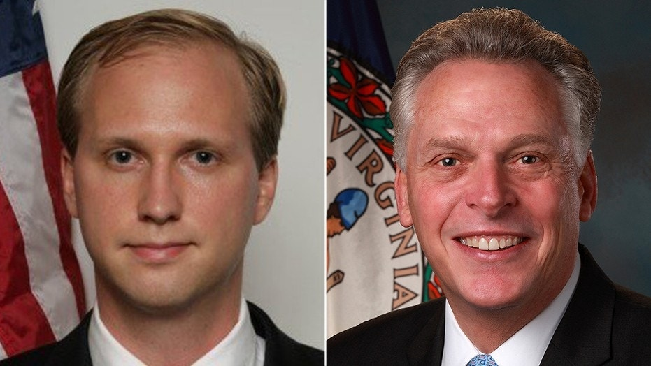 Nathan Larson, left, an admitted pedophile, is legally able to run for Congress in Virginia this year because of a 2016 decision by then-Gov. Terry McAuliffe to restore voting rights to thousands of criminals.