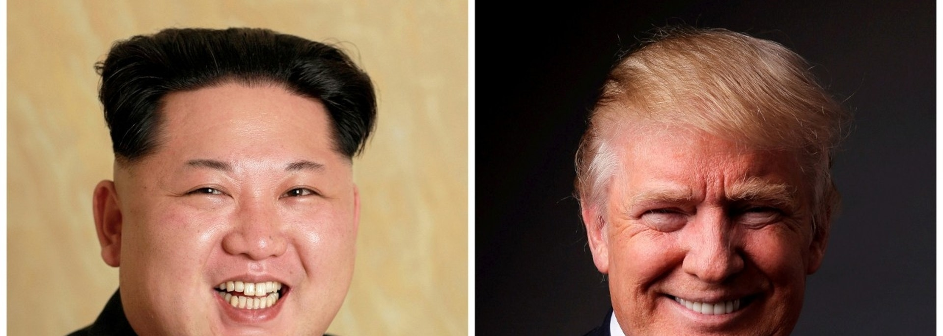 FILE PHOTOS: A combination photo shows a Korean Central News Agency (KCNA) handout of North Korean leader Kim Jong Un released on May 10, 2016, and Republican U.S. presidential candidate Donald Trump posing for a photo after an interview with Reuters in his office in Trump Tower, in the Manhattan borough of New York City, U.S., May 17, 2016. REUTERS/KCNA handout via Reuters/File Photo & REUTERS/Lucas Jackson/File Photo ATTENTION EDITORS - THE KCNA IMAGE WAS PROVIDED BY A THIRD PARTY. EDITORIAL USE ONLY. REUTERS IS UNABLE TO INDEPENDENTLY VERIFY THIS IMAGE. NO THIRD PARTY SALES. NOT FOR USE BY REUTERS THIRD PARTY DISTRIBUTORS. SOUTH KOREA OUT. NO COMMERCIAL OR EDITORIAL SALES IN SOUTH KOREA. - RC13A4D9B6B0