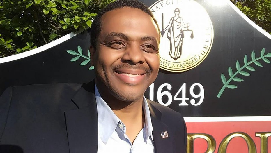 "Roussan ""Rou"" Etienne Jr., who is running for state Senate in Maryland, is under fire for reportedly campaigning at a memorial service."