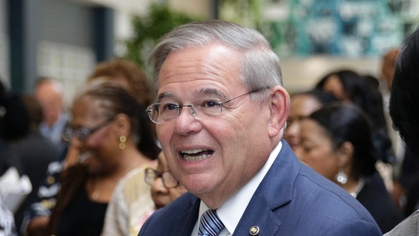 New Jersey senator Bob Menendez attends a ribbon cutting ceremony at Essex County Donald M. Payne, Sr. School of Technology in Newark, N.J., Monday, June 4, 2018. With the opportunity for at least two pickups, Democrats' road to controlling any part of Congress could cut through New Jersey this fall — but first primary voters will have their say. Incumbents face challenges in the Senate contest, where Democrat Menendez will face a well-funded former pharmaceutical executive, if both survive the primary. (AP Photo/Seth Wenig)