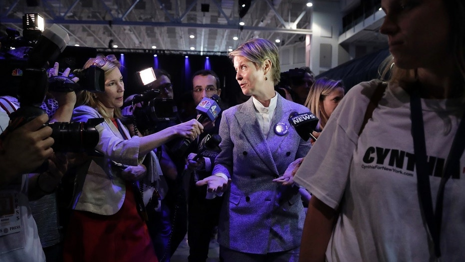 "New York gubernatorial candidate Cynthia Nixon has released ""Sex and the City""-themed campaign merchandise."