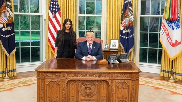 Donald Trump and Kim Kardashian