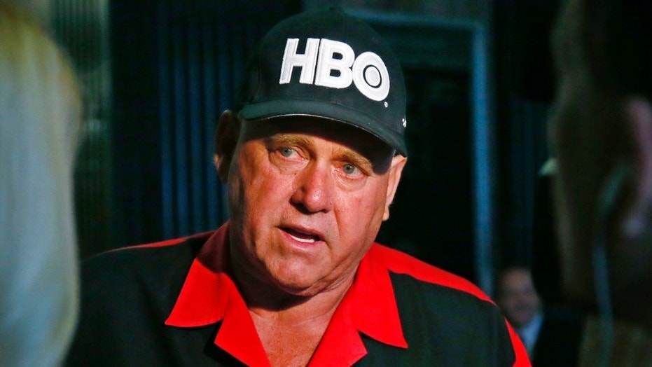 In this June 13, 2016 photo, Dennis Hof, owner of the Moonlite BunnyRanch, a legal brothel near Carson City, Nevada, is pictured during an interview in Oklahoma City.