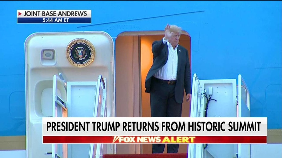 AIr Force One made a brief stop Tuesday afternoon on its way back to Washington.