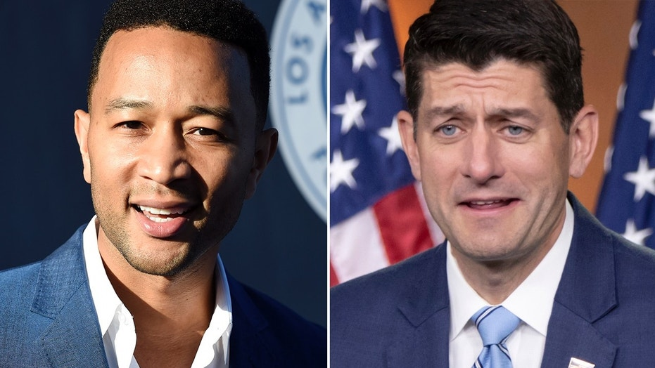 John Legend criticises Paul Ryan for Father's Day post amid immigration row