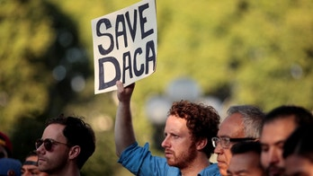 Supporters of the Deferred Action for Childhood Arrivals (DACA) program rally on Olivera Street in Los Angeles, California, September 5, 2017. REUTERS/ Kyle Grillot - RC1D73D54430