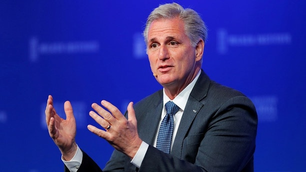 House Majority Leader Kevin McCarthy (R-CA) speaks at the Milken Institute 21st Global Conference in Beverly Hills, California, U.S., April 30, 2018.    REUTERS/Mike Blake - RC1729D65A90