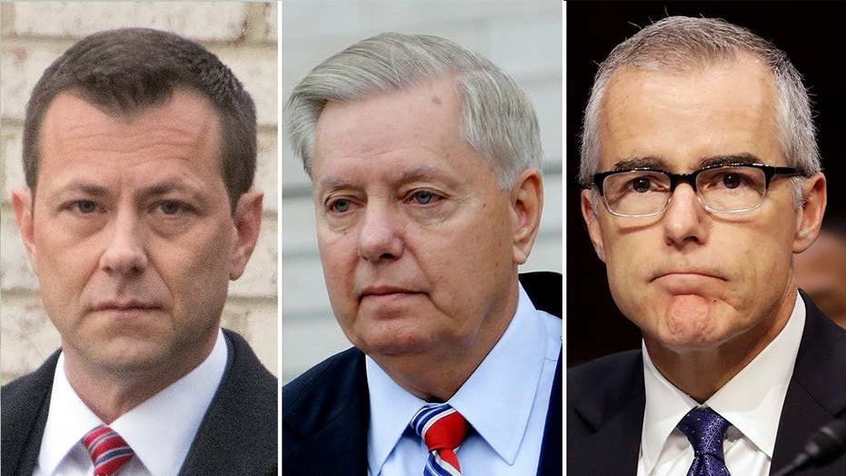 In a letter obtained by Fox News, Senator Lindsey Graham, R-S.C., formally asked Inspector General Michael Horowitz to resolve conflicting statements about a meeting discussed in text messages between Strzok and his colleague and lover Lisa Page.