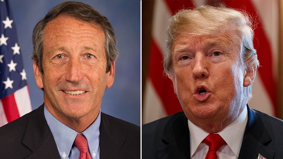 President Trump on Wednesday disputed reports that a joke he made Tuesday night on Capitol Hill — in which he mocked Rep. Mark Sanford for his recent primary election loss — was poorly received.