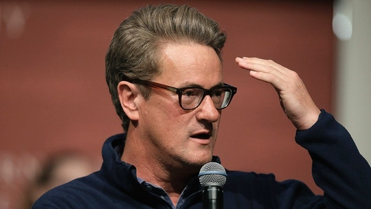 FILE - In this Oct. 11, 2017, file photo, MSNBC television anchor Joe Scarborough takes questions from an audience at forum at the John F. Kennedy School of Government, on the campus of Harvard University, in Cambridge, Mass. Scarborough announced Oct. 12, 2017, that he formally left the Republican party and became an independent. (AP Photo/Steven Senne, File)