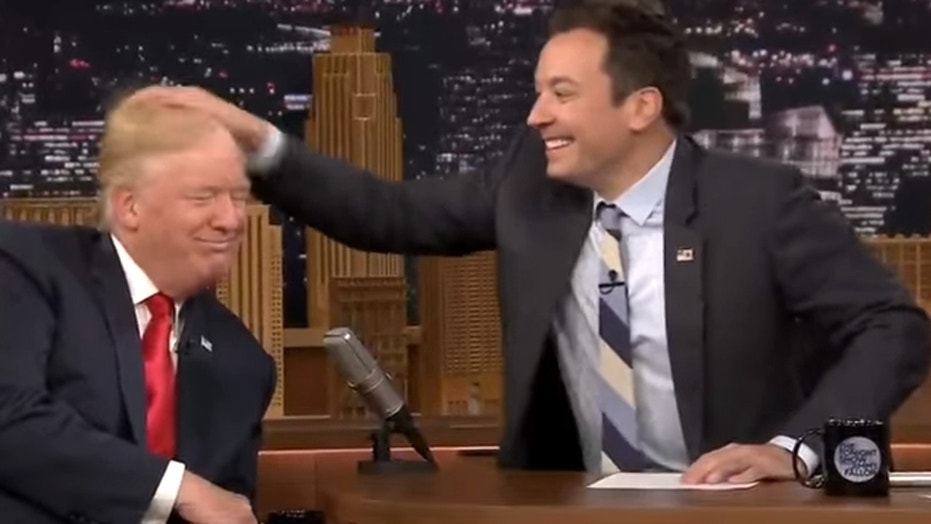 Trump tells Jimmy Fallon to 'be a man' over hair-mussing