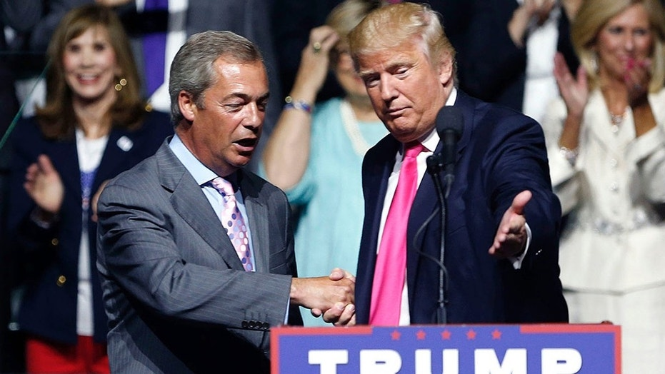Nigel Farage campaigned with then-candidate Trump in 2016.