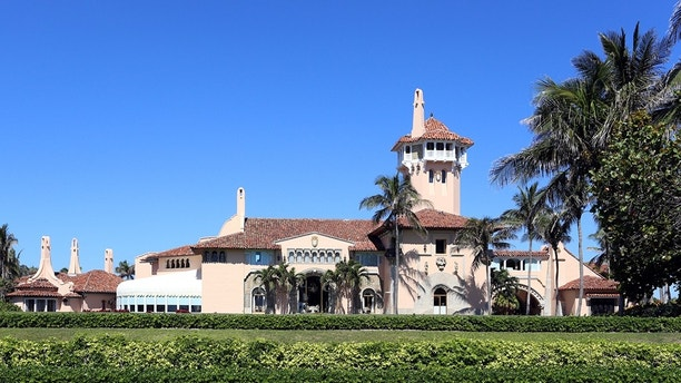 Palm Beach, Florida, USA - April 25, 2018: The Mar-a-Lago resort in Palm Beach, Florida. Mar-a-Lago is a resort and National Historic Landmark owned by President Donald J. Trump.
