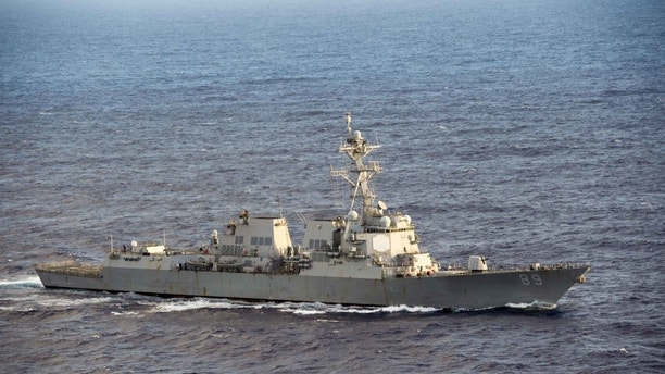 U.S.  destroyers sail through Taiwan Strait