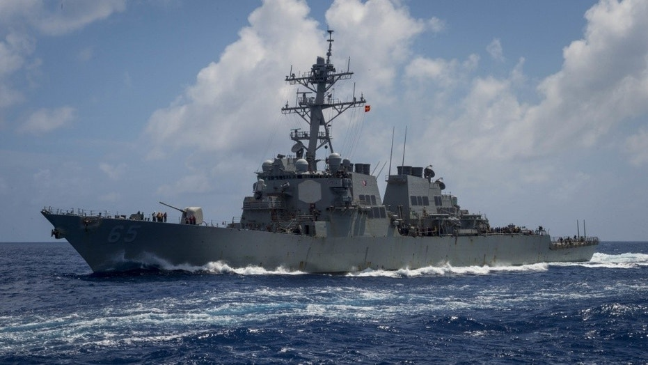 The USS Benfold was one of two U.S. Navy guided-missile destroyers that sailed through the Taiwan Strait.