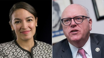 Alexandra Oasio-Cortez and Rep. Joe Crowley