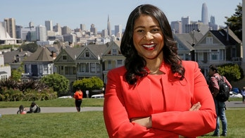 FILE - In this file photo taken April 13, 2018, then San Francisco mayoral candidate and Board of Supervisors President London Breed poses for a photo at Alamo Square in San Francisco. Breed, who will make history as the first African American woman mayor of San Francisco when she takes the oath of office Wednesday, July 11, 2018. The 43-year-old city native who grew up in public housing inherits a city battling entrenched homelessness, open drug use and unbearably high housing costs. (AP Photo/Eric Risberg, File)