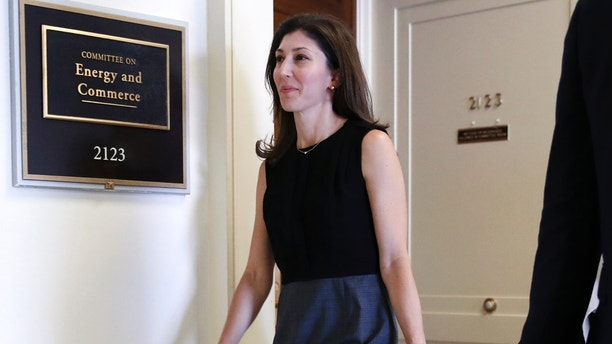 Former FBI lawyer Lisa Page arrives for a closed door interview with the House Judiciary and House Oversight and Government Reform committees, Friday, July 13, 2018, on Capitol Hill in Washington. (AP Photo/Jacquelyn Martin)